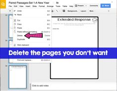Assignments for students using google classroom files