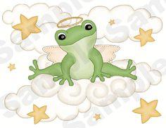 ANGEL FROGS FROGGY MOON STARS BUGS NURSERY BABY WALL ART BORDER STICKERS  DECALS EBAY