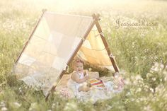 Tent Frame and Patchwork Cover Photography Props Photo