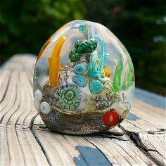Ocean bead Aquarium Bead Coral Reef Handmade Glass by MitosisGlass, $83.00