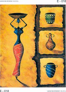 LAMINAS PARA DECOUPAGE DECOPAPER: LÁMINAS AFRICA - ETNICAS 20x25 CM.
