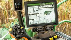 Inside view of cab controls in combine Combine Harvester, Office Phone, Landline Phone, Wagon Wheel, Tractors
