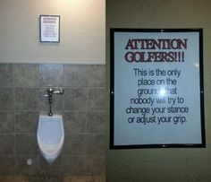 Attention Golfers!