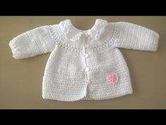 Chaquetita o chambrita a crochet para bebe parte 1 #tutorial #DIY - YouTube