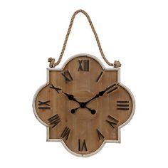 Collin Cream Wooden Clock | Kirklands