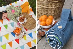 Rainbow Flag Bunting Picnic Blanket | 20 Perfect Picnic Blankets