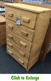 Oak Finish 5 Drawer Chest At Furniture Warehouse | The $399 Sofa Store |  Nashville,