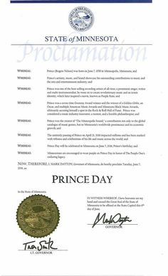 Prince mayte wedding invitation prince my beautiful one minnesota proclamation for as chiari malformation awareness month special thanks to governor mark dayton stopboris Image collections