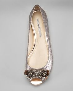 Vera wang lavender peep toe flat - A bit expensive, maybe I can remake it.