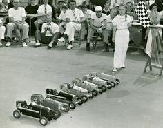 Model car race, 1940.