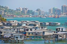 Port Moresby, the capital city of Papua New Guinea. It has a population of around 310,000