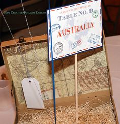 travel themed centerpieces | Pin Globe Centerpiece 2 Vintage Centerpieces Travel Themed Cake on ...