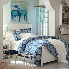 blue bedroom for girls