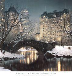 Dämmerung im Central Park Kunstdrucke von Rod Chase bei AllPosters.de