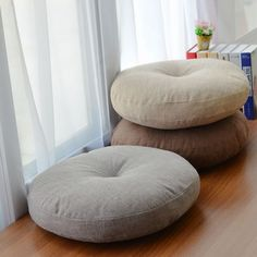 Soft Canvas Round Chair Cushion Seat Pad for Patio Home Car Office Floor Pillow . Soft Canvas Round Chair Cushion Seat Pad for Patio Home Car Office Floor Pillow with Insert Filling Memory Foam Futon Cu. Round Chair Cushions, Floor Seating, Soft Seating, Round Floor Pillow, Floor Pillows, Mat Yoga, Office Floor, Car Office, Pillows
