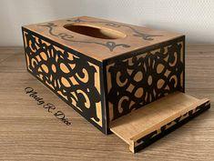 Boite à Mouchoirs Decorative Boxes, Creations, Etsy, Home Decor, Cartonnage, Black People, Decoration Home, Room Decor, Home Interior Design