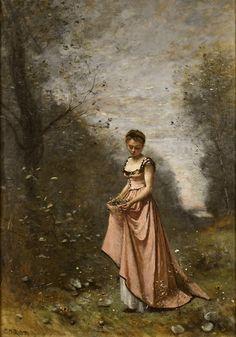 Jean-Baptiste-Camille Corot: Le printemps de la vie, 1871.
