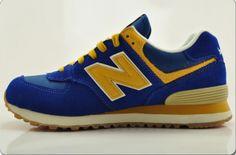 New Balance ML574VBY Rerto Chaussures de Running Bleu Jaune Kaki