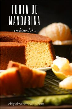 Easy Tangerine Cake - Chipa by the Dozen. This tangerine cake is mixed in a blender. Using all the fruit to make it, you are left with a cake bursting with tangerine flavor. Cupcake Recipes, Cupcake Cakes, Dessert Recipes, Tangerine Recipes Baking, Recipe For Lemon Coconut Cake, Bundt Cake Pan, Pound Cake, Tasty Dishes, How To Make Cake