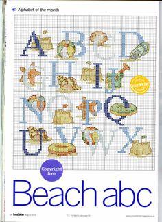 Beach cross stitch alphabet
