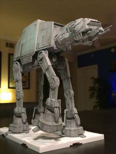 Bandai AT-AT Star Wars Crafts, Star Wars Toys, Star Wars Pictures, Star Wars Images, Star Troopers, Battle Robots, At At Walker, Imperial Army, Star Wars Models