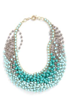statement necklace in aqua