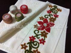 Panç işi havlu süsleme