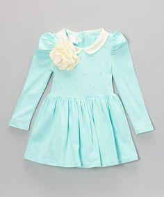 Blue Bloom Dress - Toddler & Girls #zulily #zulilyfinds