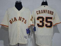 c4b376605 Giants  35 Brandon Crawford Cream Flexbase Authentic Collection Stitched MLB  jerseys