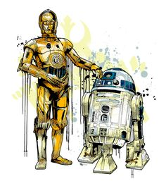 C3PO and R2D2 - Mitchy Bwoy