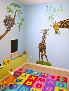 Jungle Fun Play Room Mural  www.dreamwalldesigns.ca