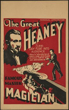 The Great Heaney : Famous master magician by Boston Public Library, via Flickr