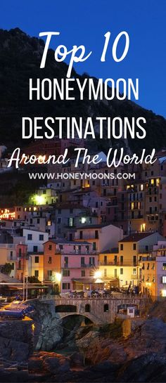 Not sure where to spend your honeymoon and get the much needed relaxing break from all the wedding planning and festivities? Ready to kick off your honeymoon with the ultimate relaxation and beautiful scenery? Then check out the top 10 most popular honeymoon destinations around the world.