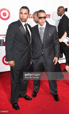 Don Omar and Daddy Yankee arrive at 2009 Billboard Latin Music Awards at Bank United Center on April 23, 2009 in Miami.