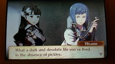 One of my favorite quotes from Hisame.