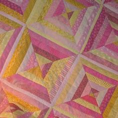String Quilt in Pink Lemonade