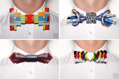 The BritList: Lego Bow Ties, Floppy Disk Coasters & More | Brit + co...  bow ties are cool.