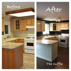 The Ruffle: Kitchen Cabinets