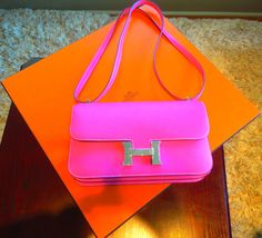 No words! Some girls have a color for every day of the week. Lucky you this girl is ready to part with pink. #comingsoon #shophers #hermes
