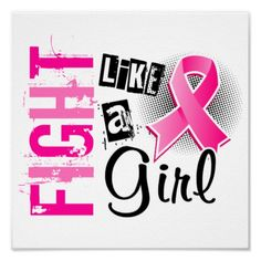 Fight Like A Girl Breast Cancer 36.8 Posters