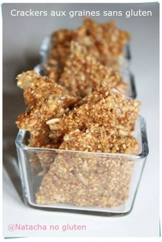 Des crackers aux graines sans gluten pour votre apéritif de ce week end!