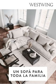 Couch, Inspiration, Furniture, Home Decor, Modern Classic, House Decorations, Gray Couches, Home Remedies, Decorating