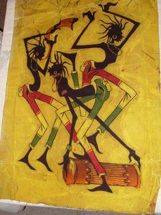 African Art Batik by 615DStreet on Etsy, $20.00