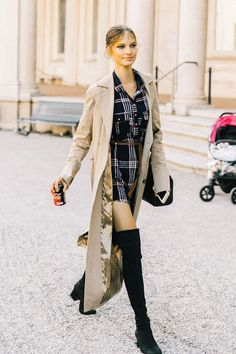 Never quite sure what to wear with thigh-high boots? We've rounded up the thigh-high boot outfits that work every time.