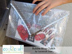 Bubble Wrap Clutch by Savannah Starr