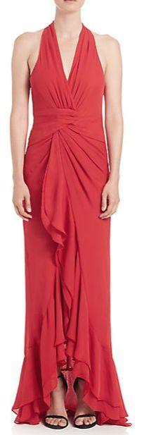 Parker Black Halter Neck Century Gown