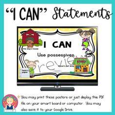 "Florida B.E.S.T. Standards ""I Can"" Statements | ELA - KINDERGARTEN by Star Kids School Resources, Learning Resources, Teacher Resources, Star Kids, I Can Statements, Beginning Of The School Year, Student Engagement, Anchor Charts, Kindergarten"