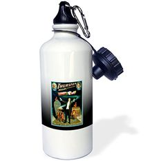 3dRose wb_114171_1 Vintage Howard Thurston Kellars Successor Magician Illusionist Poster Sports Water Bottle 21 oz White -- Learn more by visiting the image link.