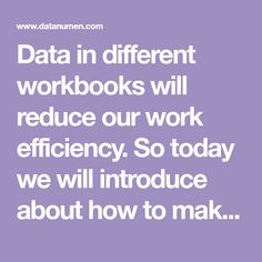 Data in different workbooks will reduce our work efficiency. So today we will introduce about how to make connections between two worksheets.
