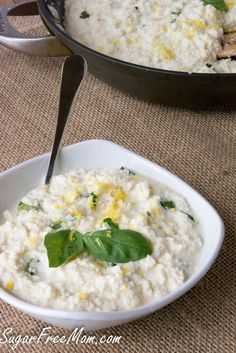 Low Carb Creamy Lemony Faux Risotto
